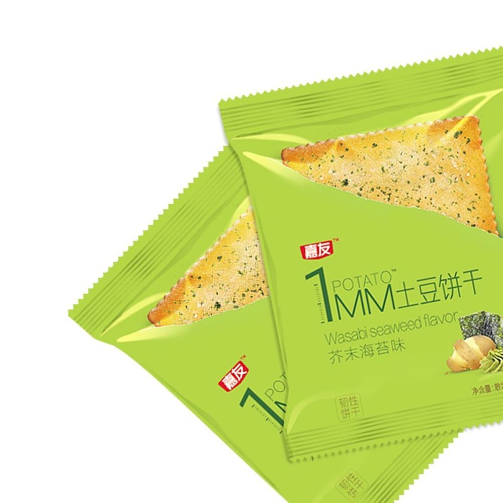 嘉友1MM芥末海苔味土豆饼干