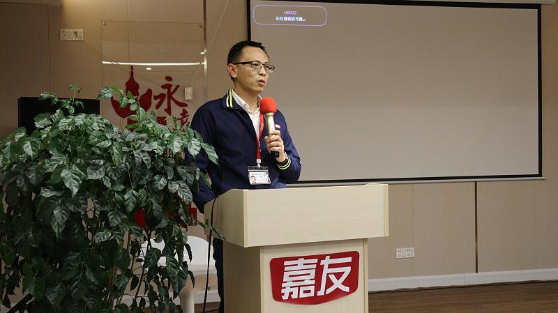 中共石碣镇委党校副校长莅临嘉友食品指导党建工作 (5)